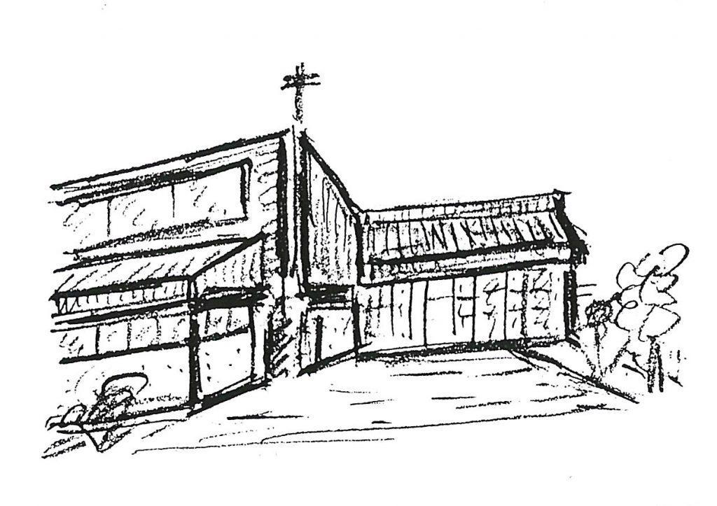 Zeichnung Lukaskirche