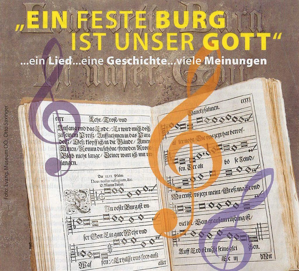 """Altes Liederbuch mit dem Lied """"Ein feste Burg ist unser Gott"""""""